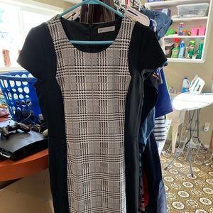 Down East Black and white hounds tooth dress
